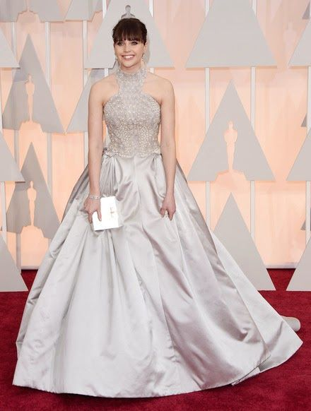 Felicity Jones at the Oscar's 2015