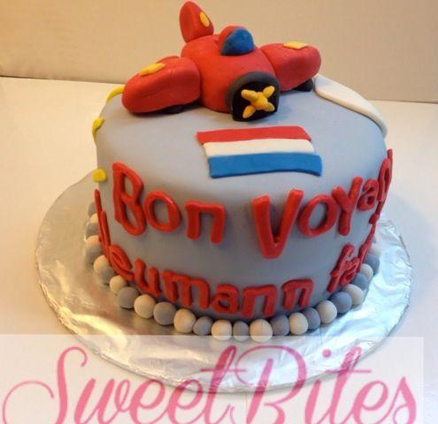 Bon voyage cake Facebook.com/sweetbitesshoppe