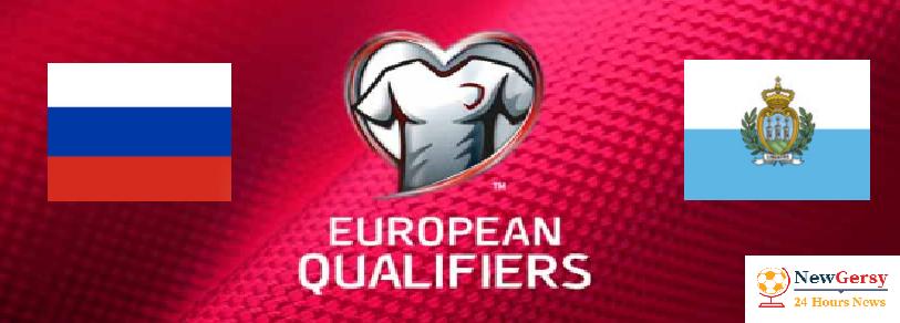 Russia 90 San Marino Live stream Euro Qualifiers 2020