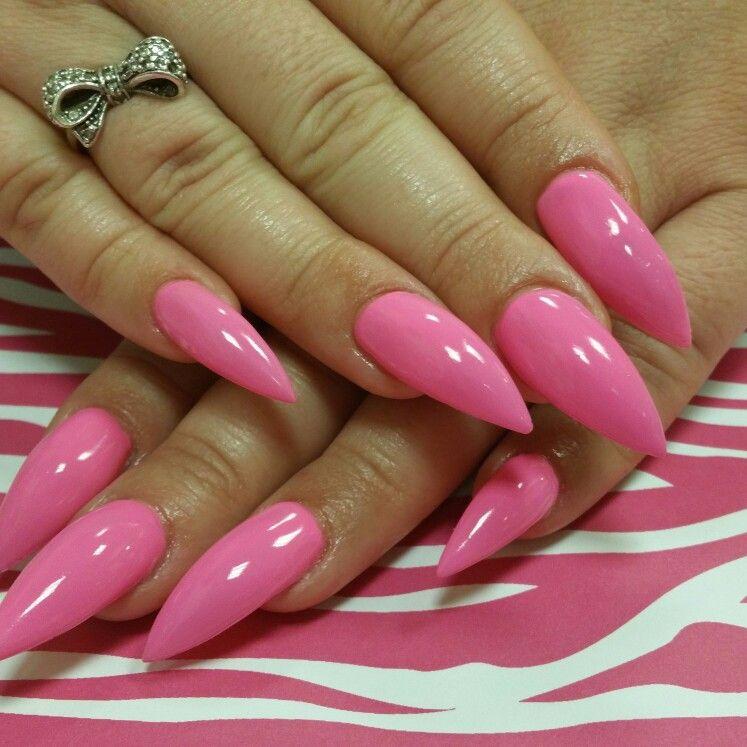 Acrylic nails, stiletto nails, long nails, pink nails | nails ...