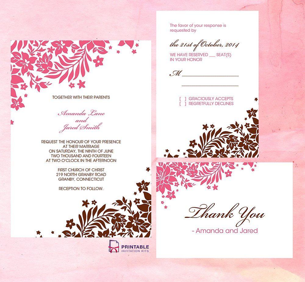 pink invitation templates
