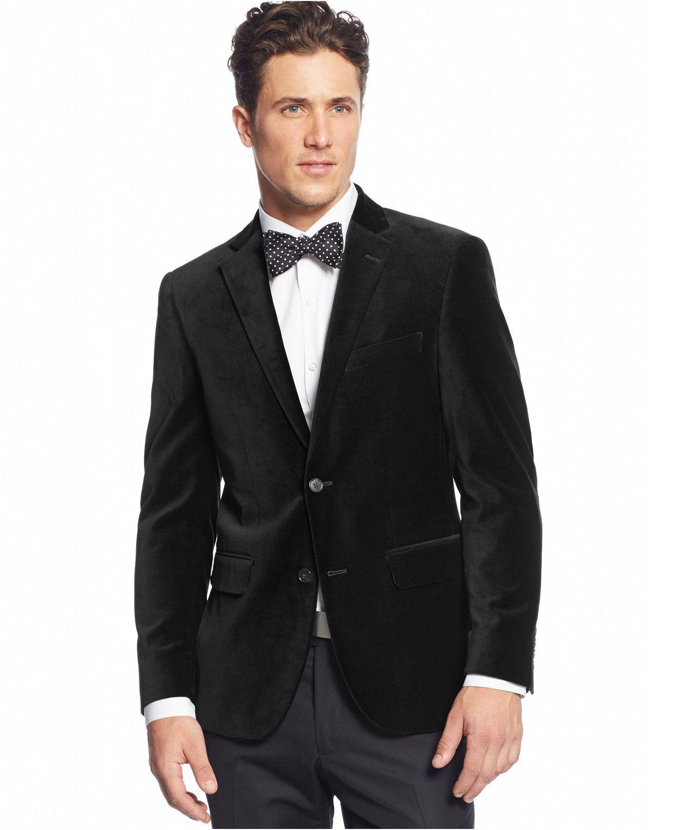 Alfani RED Velvet Slim-Fit Sport Coat - Tuxedos & Formalwear - Men ...