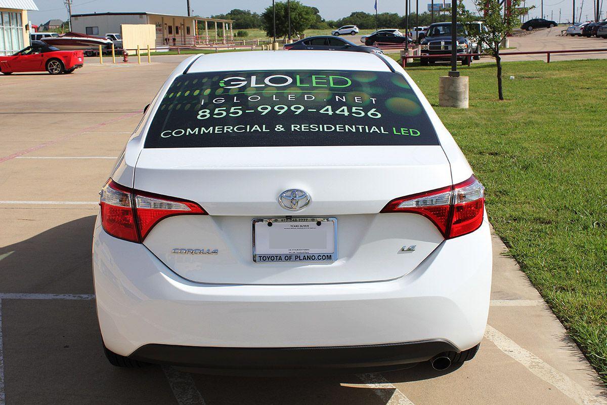 Iglo Advertising Toyota Corolla Wraps Advertising Wraps