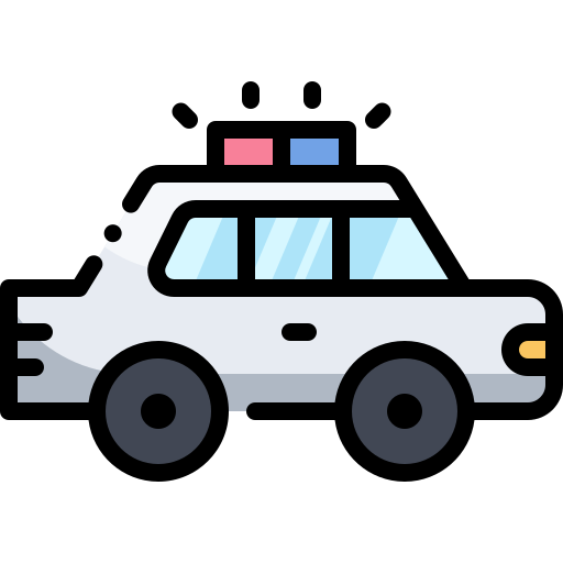 Police Car Free Vector Icons Designed By Vitaly Gorbachev Vector Icon Design Police Cars Hello Kitty Images