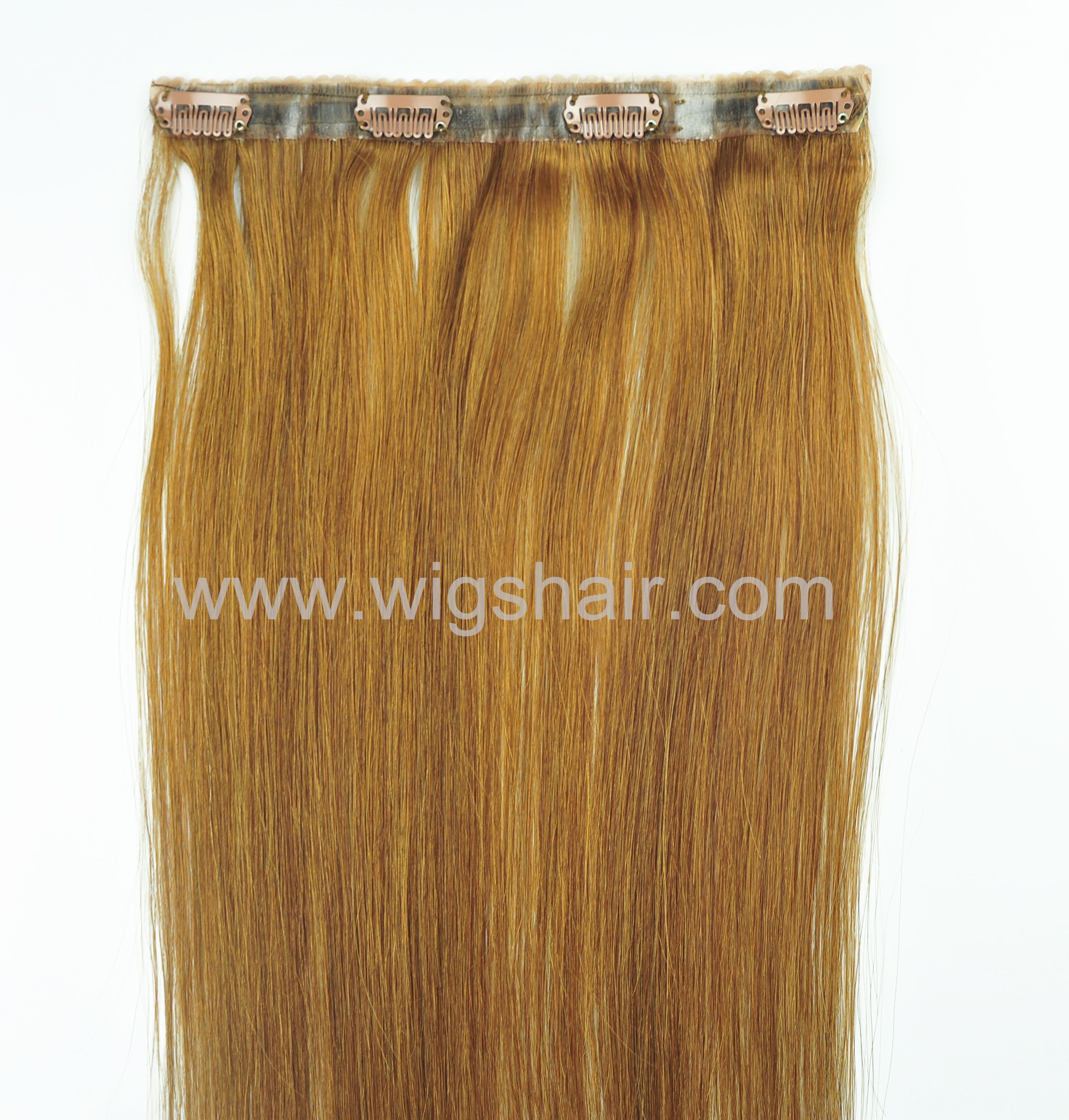 Super Thin Edge Seamless Clip In Extensionremy Hair 18 Ginger