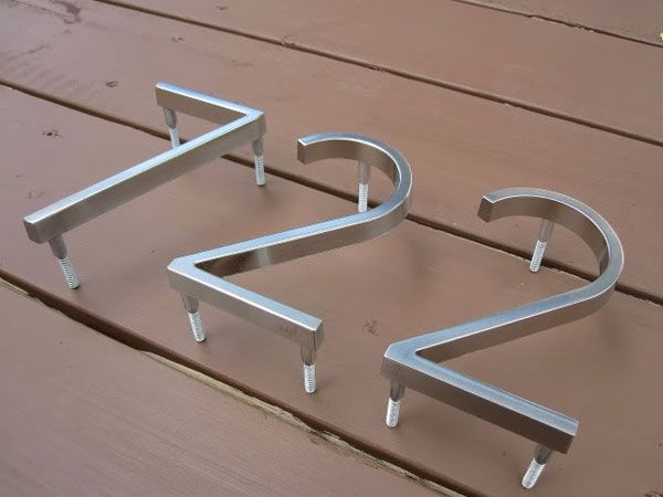 Home depot modern house numbers curb appeal curb for Floating house letters