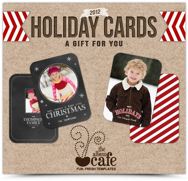 free christmas card photoshop templates design by thealbumcafe