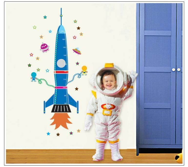 Wandtattoo Wandaufkleber Rakete Weltraum Kinderzimmer