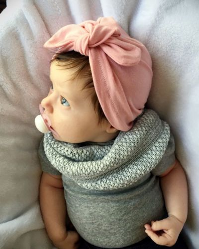 2017 Newborn Baby Kid Boy Girl Infant Bowknot Hat Toddler Cotton Beanie Hat Cap