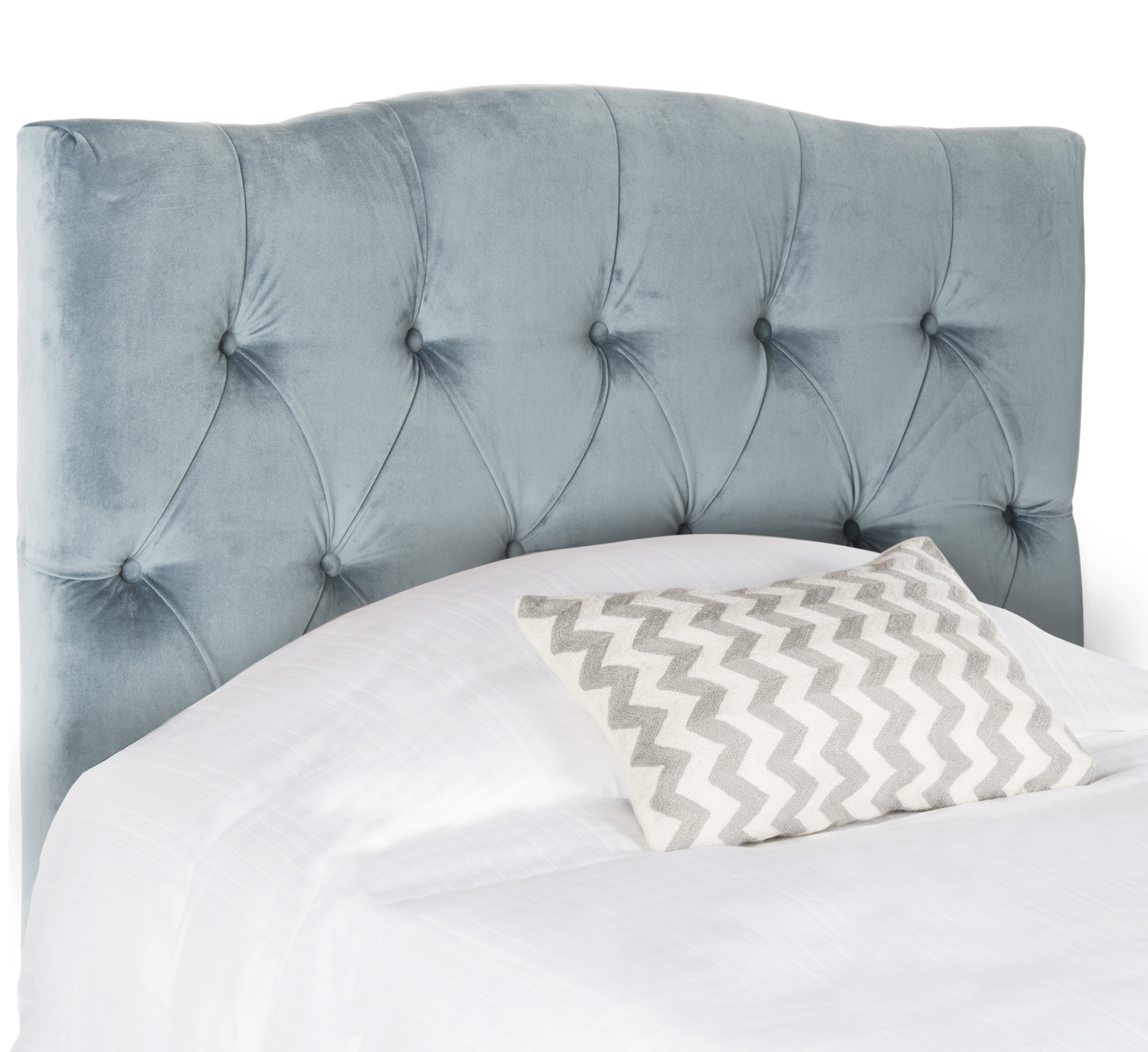 Kylie Tufted Blue Twin Size Headboard - CALL TO CONFIRM AVAILABILITY ...