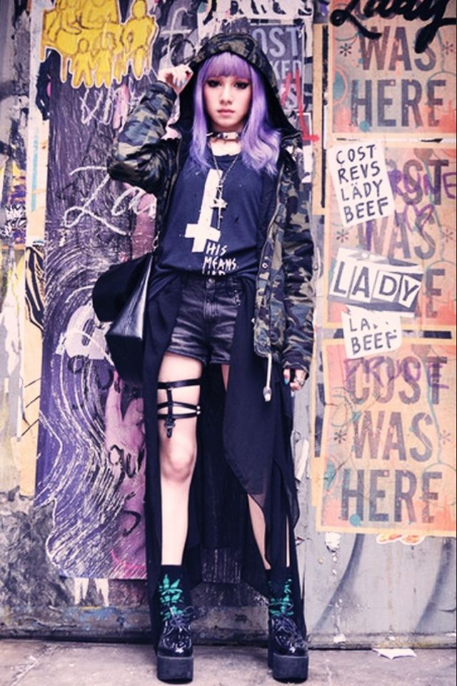 "Visual Kei Punk look for the Anime Emo Punk Tech Movement of 2054 in book series, ""The Biodome Chronicles"" by Jesikah Sundin (see board for ""Legacy"", ""Elements"" and ""Gamemaster"")"