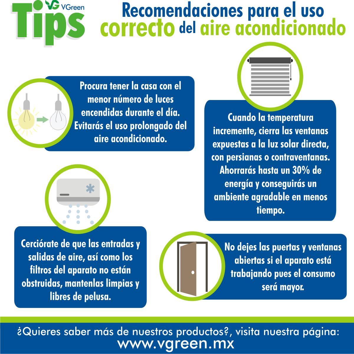 Recomendaciones Para El Uso Correcto Del Aire Acondicionado Te  ~ Medidas Para Ahorrar Energia En Casa