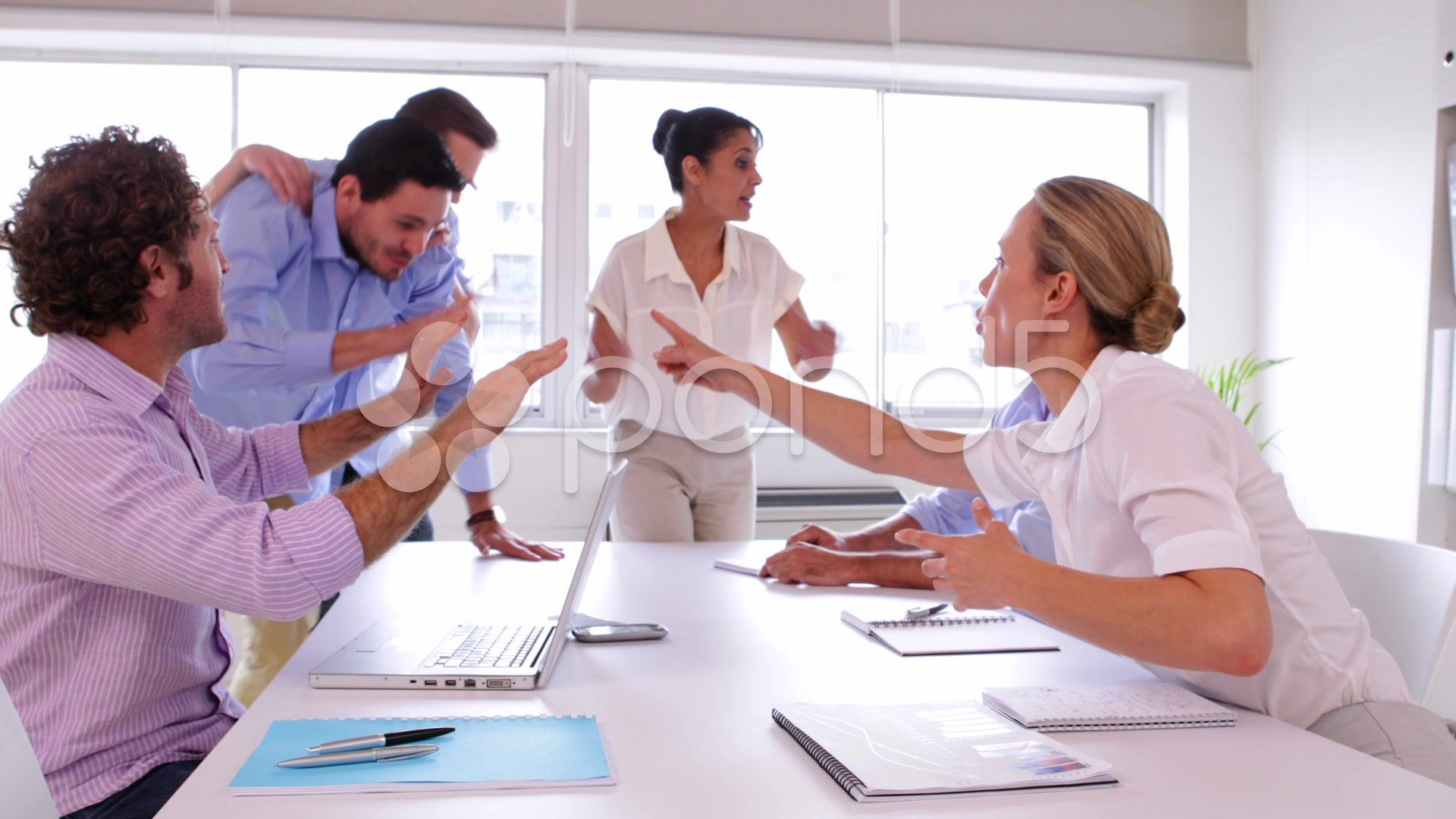 Business Team Disagreeing And Fighting Stock Footage Ad