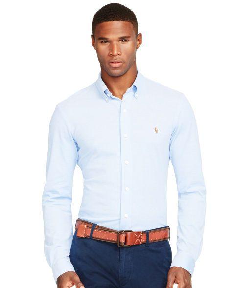087fe7e0 Knit Oxford Shirt - Polo Ralph Lauren Standard-Fit - RalphLauren.com ...