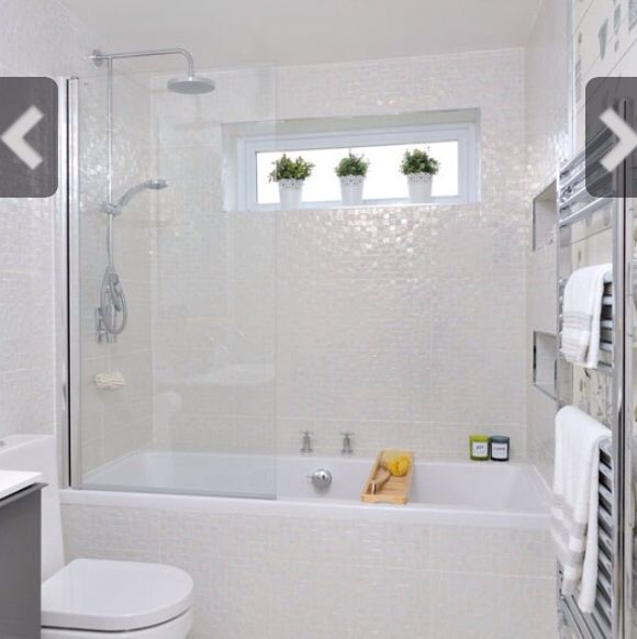 Iridescent Mosaic Tile Bathroom Ideas Our Private Space En 2019 Bathroom White Bathroom Tiles Et Small White Bathrooms