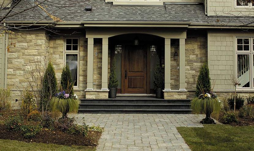 Pictures Of Houses With Stone And Brick   Exterior Stone   Stone Supplier  For Homes