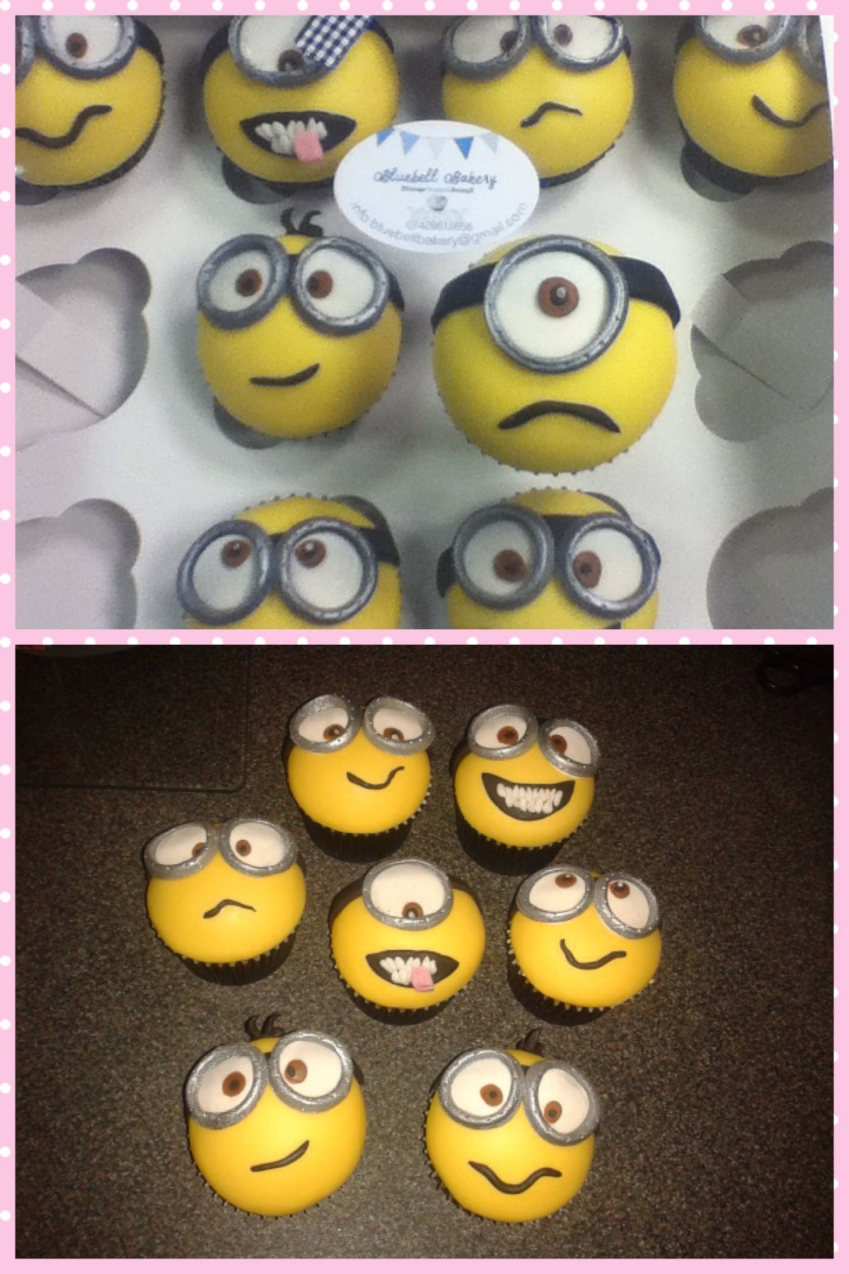 Minion cupcakes! From the Bluebell Bakery!