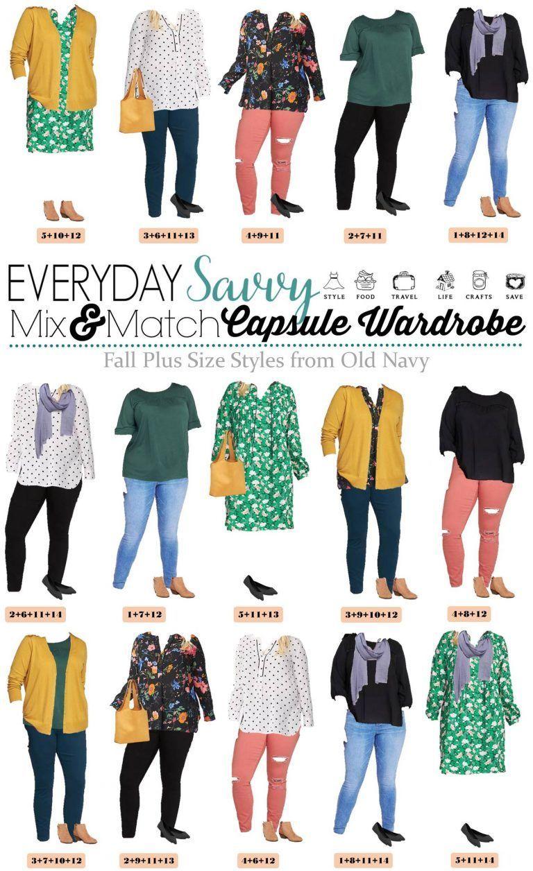 d48362da516 Old Navy Plus Size Capsule Wardrobe Fall - Plus Size Outfit Ideas Plus Size  Capsule Wardrobe