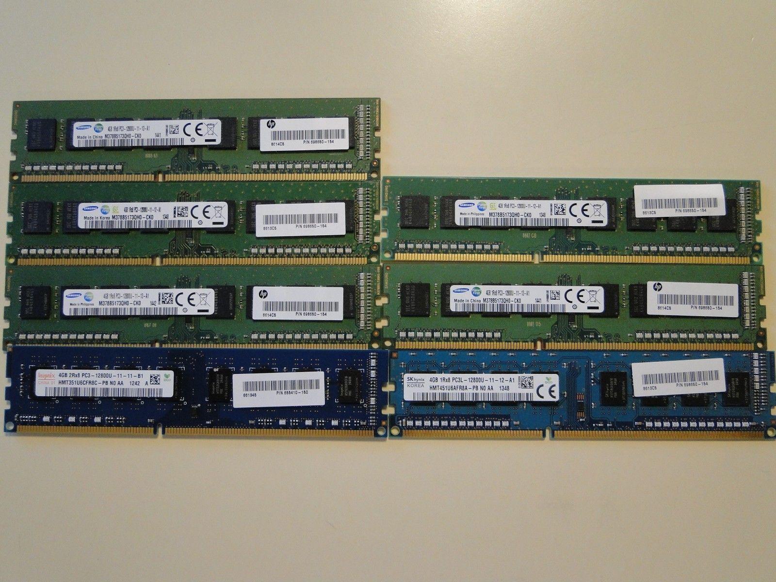 Samsung 4GB 1RX8 Pc3 12800u