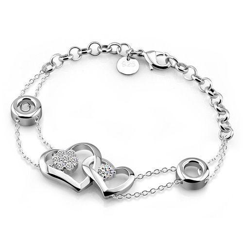 Women Fashion 925 Silver Bracelet