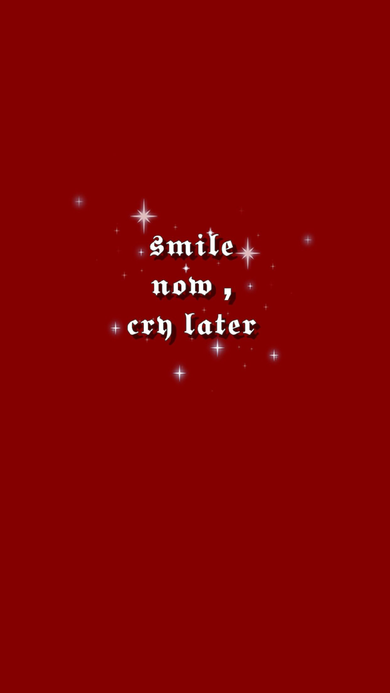 Smile Now Cry Later Bad Girl Wallpaper Photoshoot Backdrops Words Wallpaper