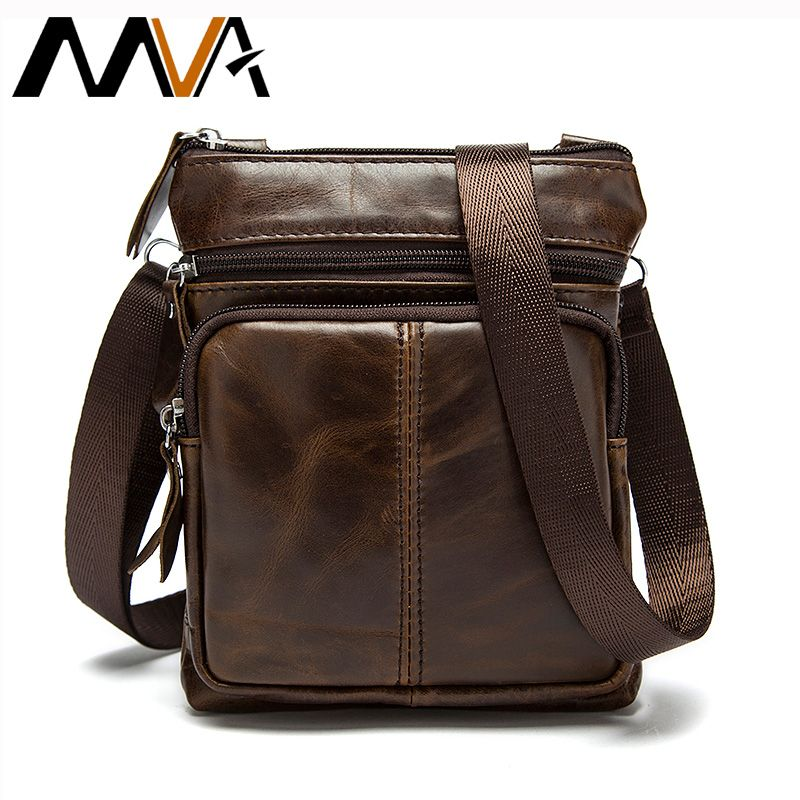 Mva 남성 가방 정품 가죽 뜨거운 판매 남자 작은 크로스 바디 어깨 가방 빈티지 디자인 남성 메신저 가방 남자 동전 지갑 701