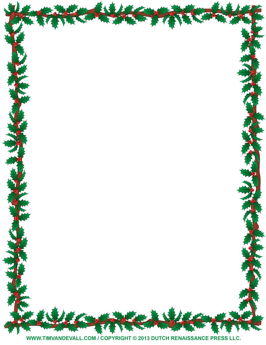 free christmas borders to print christmas clipart borders holly borderjpg
