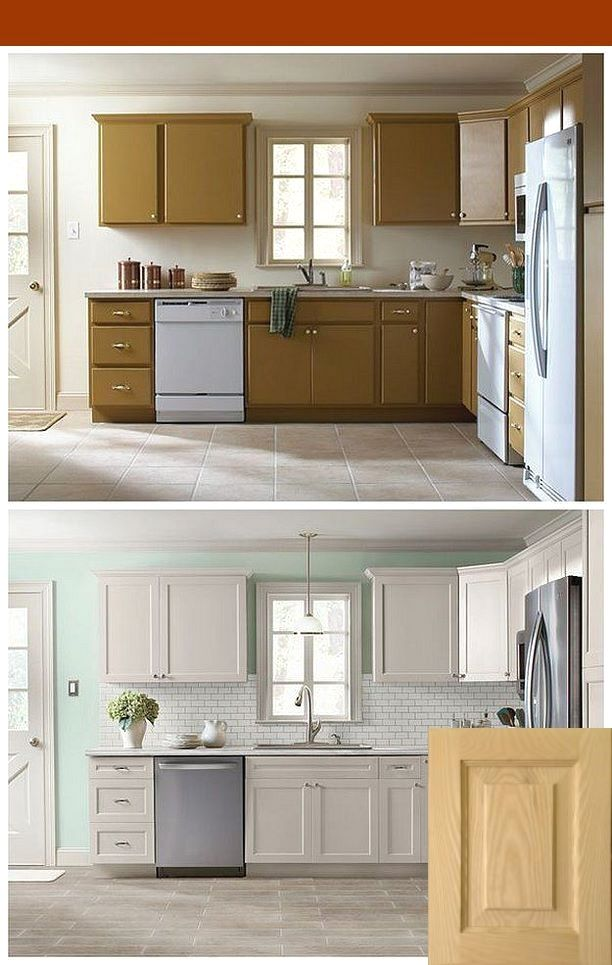 Rustic Gray Stain Kitchen Cabinets