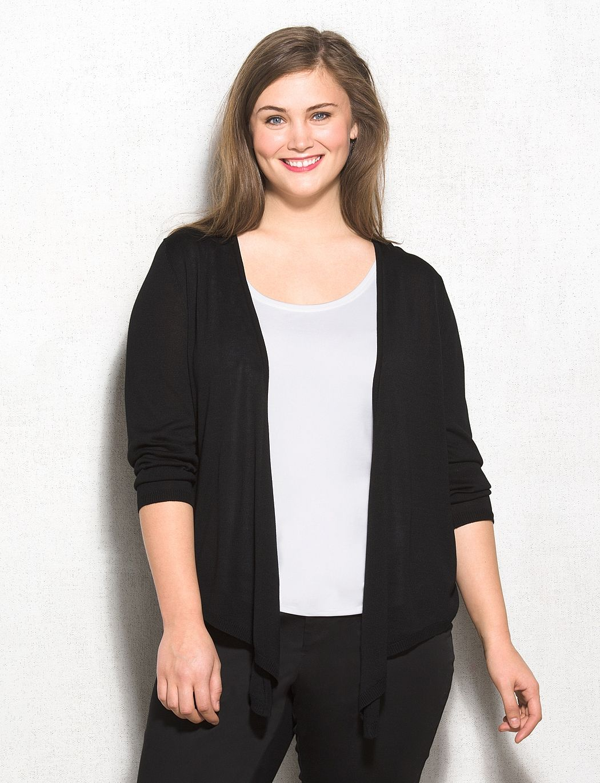 Plus Size | Tops | Sweaters | Cardigans | Plus Size Lace Back ...