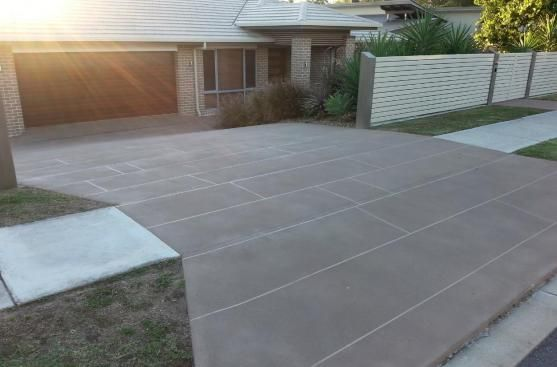 concrete driveway design ideas concrete driveway stencil patterns with paver border best driveway replacement ideas driveway - Concrete Driveway Design Ideas