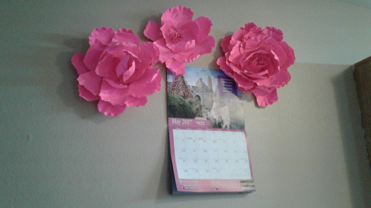 Add some homemade paper flowers to brighten your walls diy ideas add some homemade paper flowers to brighten your walls mightylinksfo Image collections