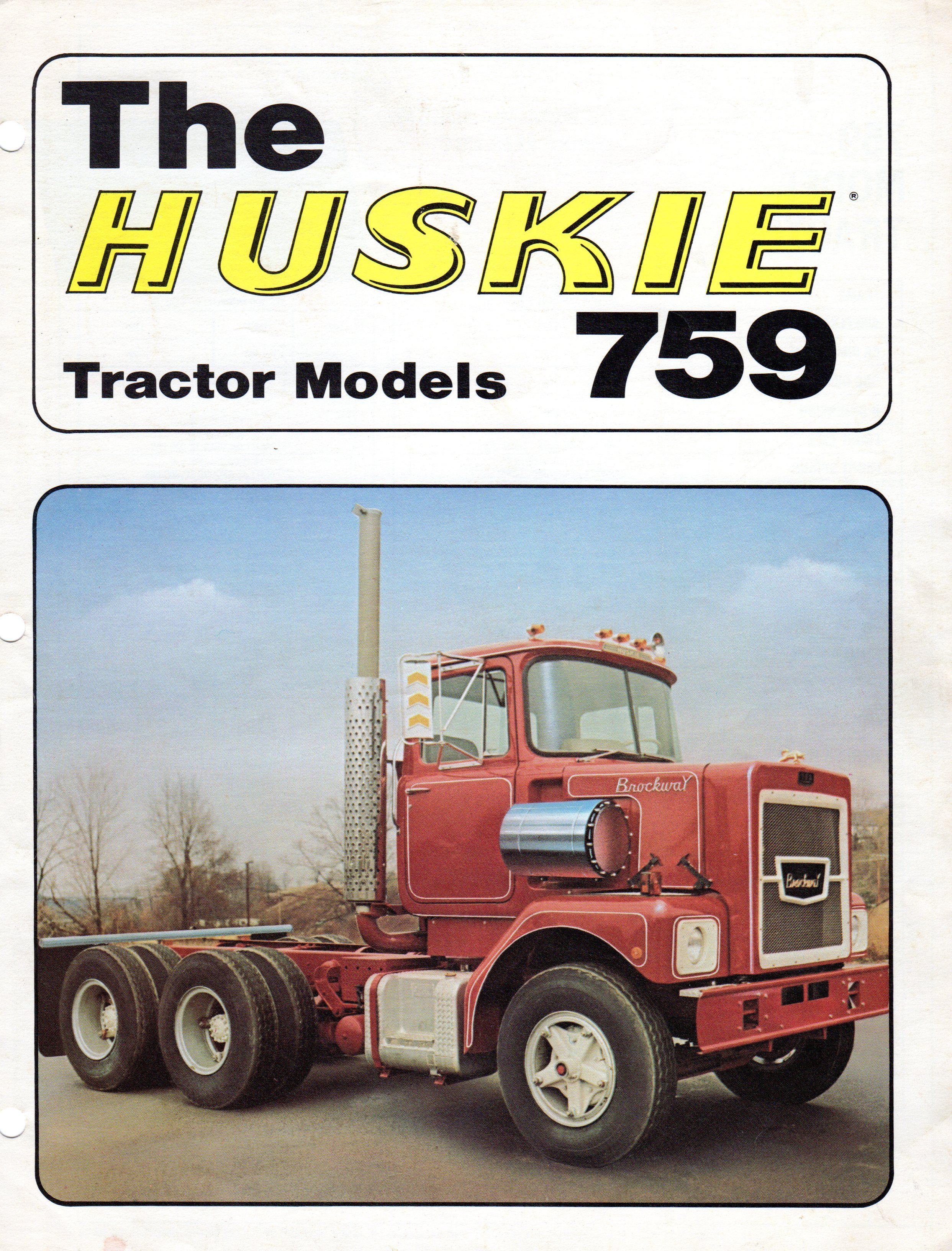 Mid 70 S Brockway Trucks Brochure Huskietown Usa Cortland Ny