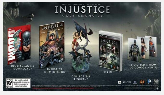 Injustice Gods Among Us Collecters Edition Xbox 360 Playstation Wii