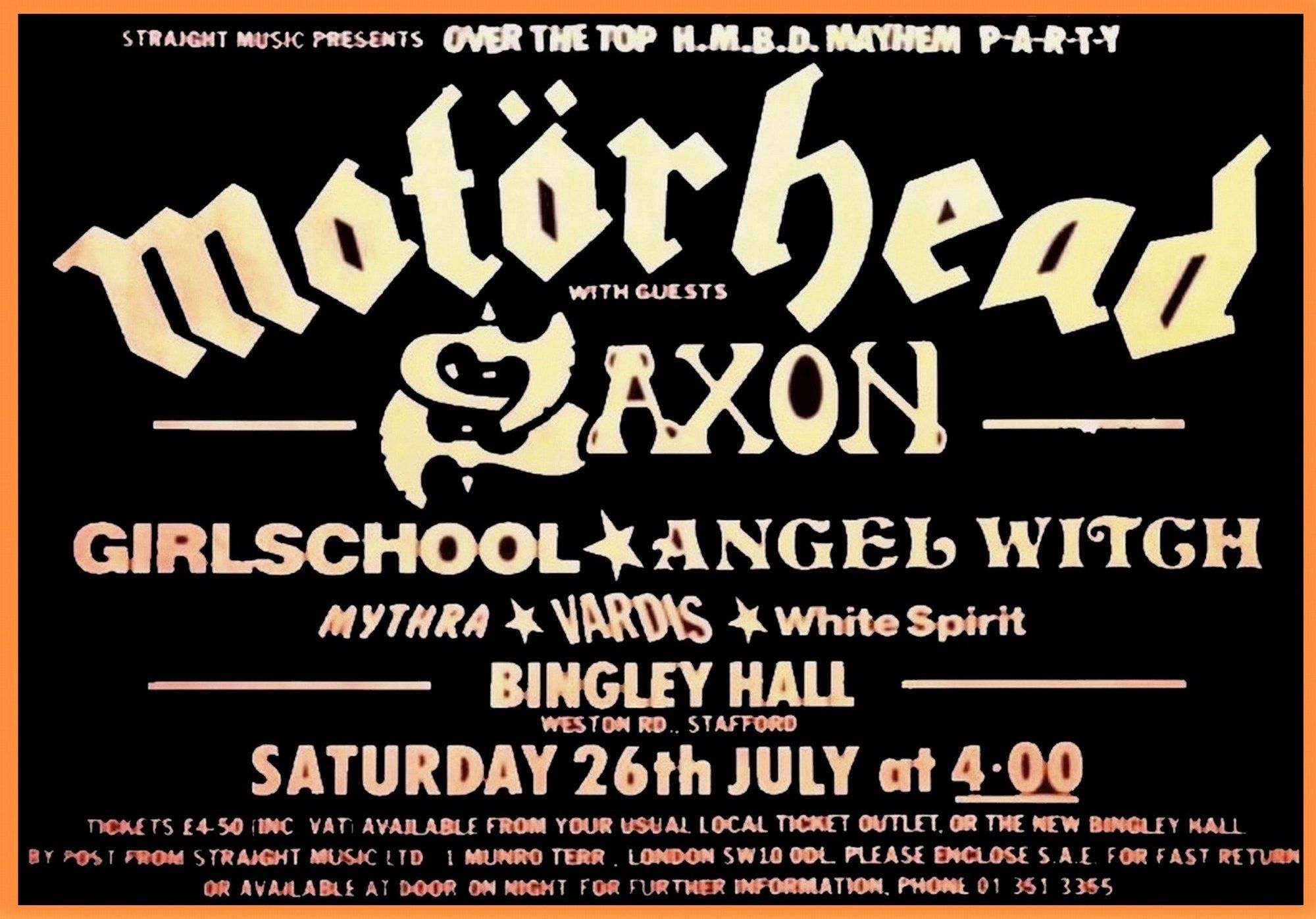 Motorhead Band Poster A3//A4 Classic Rock Posters