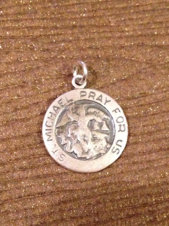 St. Michael crest prayer protection charm #beads #bead #stmichael #prayer #etsy