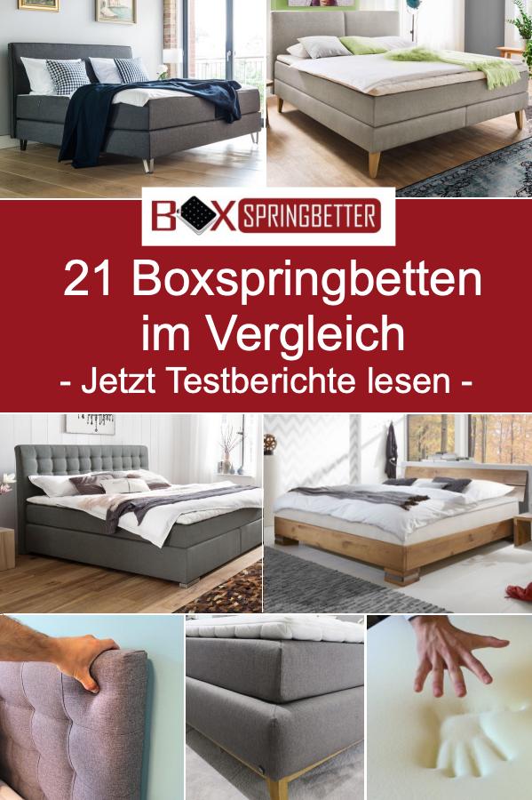 21 Boxspringbetten Im Vergleich So Erkennen Sie Ein Gutes Boxspringbett Bestes Boxspringbett Schlafzimmerideen Fur Kleine Raume Boxspringbett
