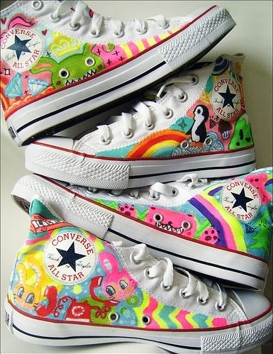 54a287e49 allstar, colorful, converse, doodles, illustration, sneakers ...