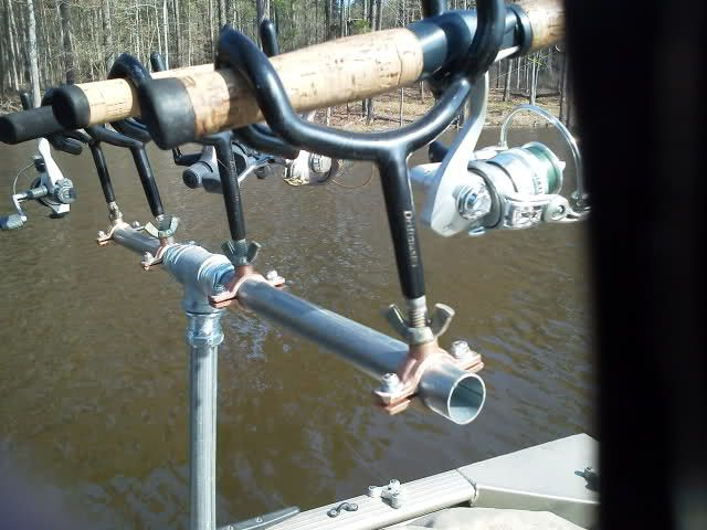 Diy rod holders for boat google search boat building for Homemade fishing rod holders for boats