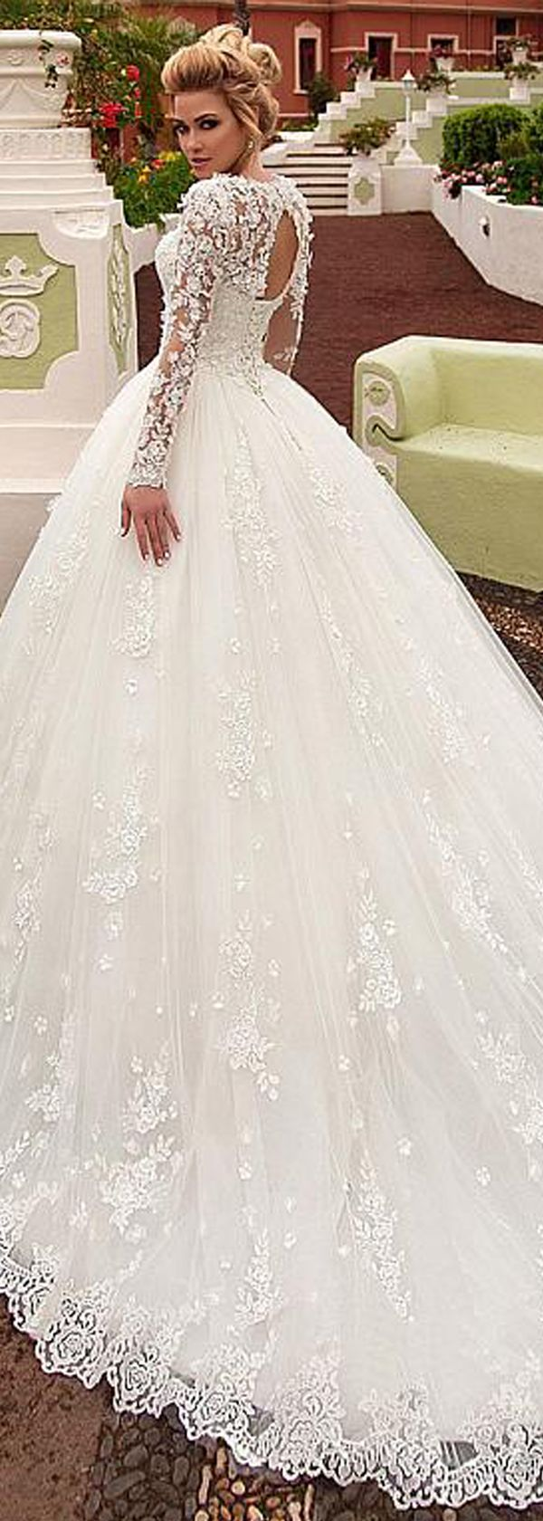 How much are wedding dresses  Attractive Tulle Jewel Neckline Ball Gown Wedding Dress With Beaded