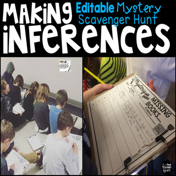 Make Inferences interesting by planning a Mystery Scavenger Hunt - make missing poster