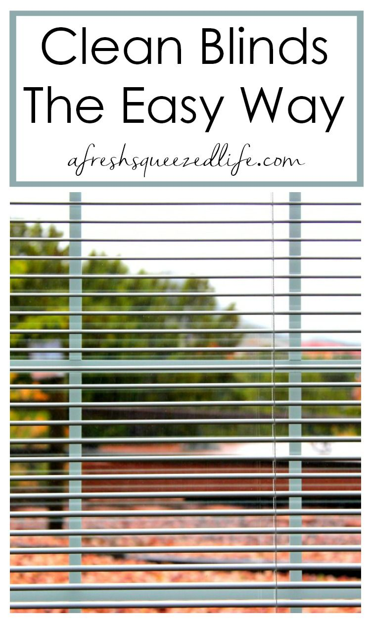 HOW TO CLEAN BLINDS VINYL OR ALUMINUM A FreshSqueezed