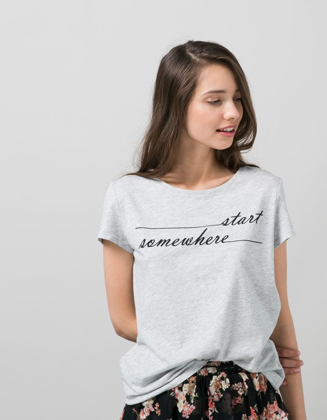 t shirts woman woman bershka alg rie tees pinterest. Black Bedroom Furniture Sets. Home Design Ideas