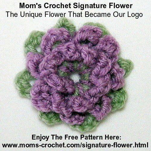 Signature Flower Logo Floral Crochet Pinterest