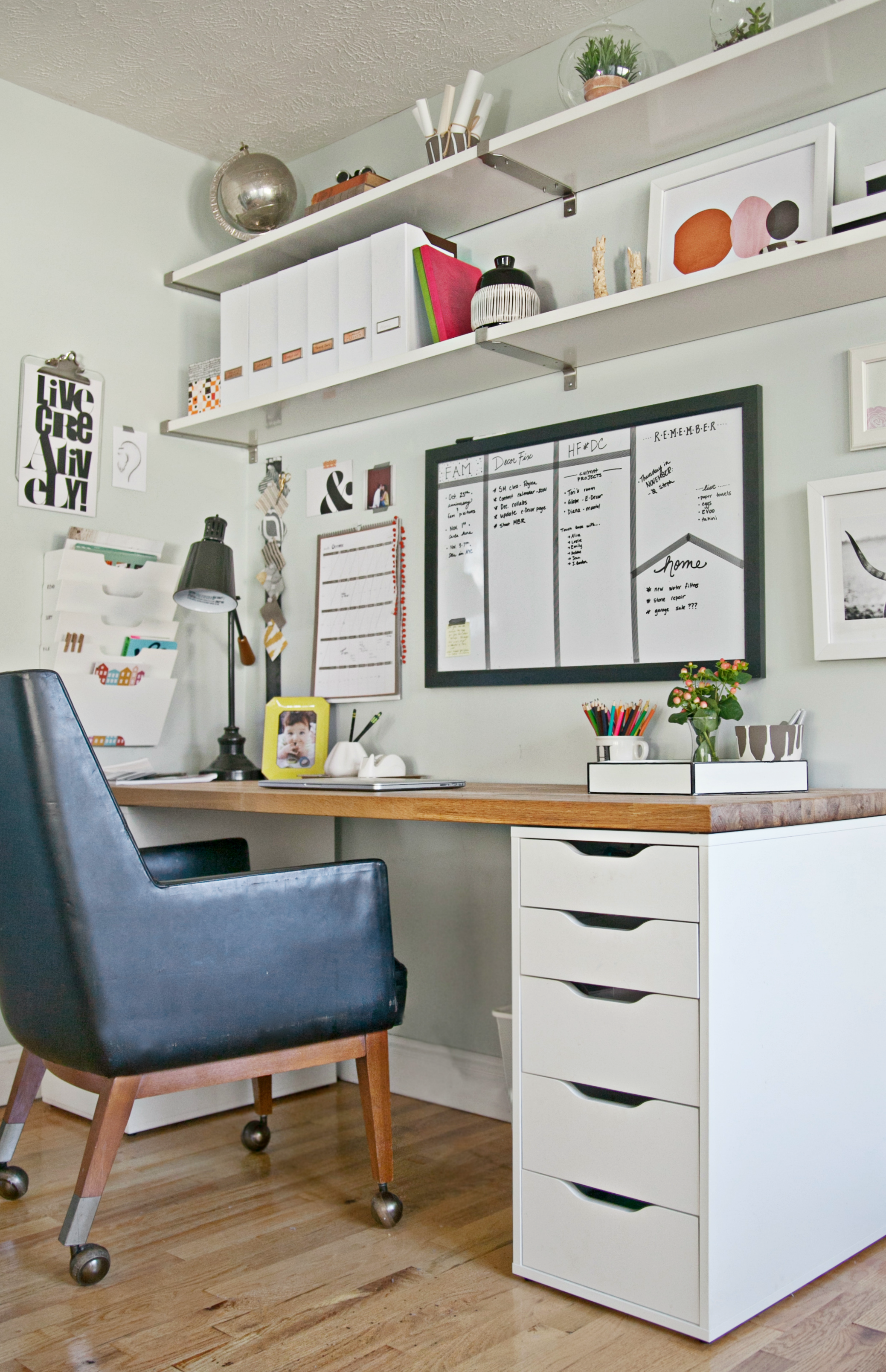Superbe 9 Steps To A More Organized Office | Decor Fix Home Office Shelves, At Home