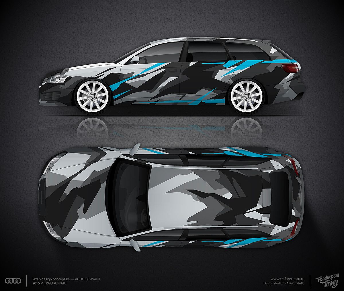 Design Consept 4 Back Ice Camo For Audi Rs6 Avant For