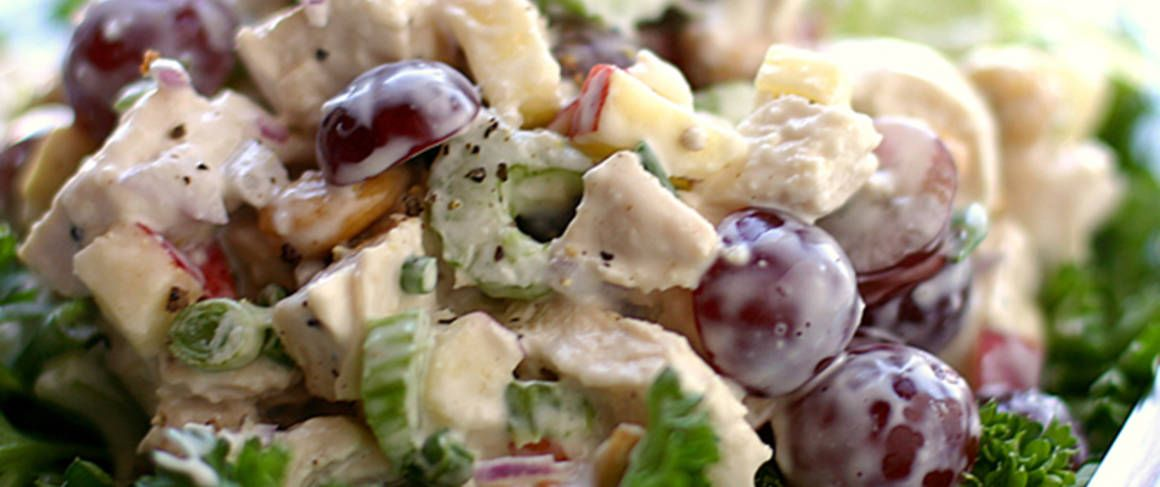 recipe: chicken macaroni salad with grapes [2]