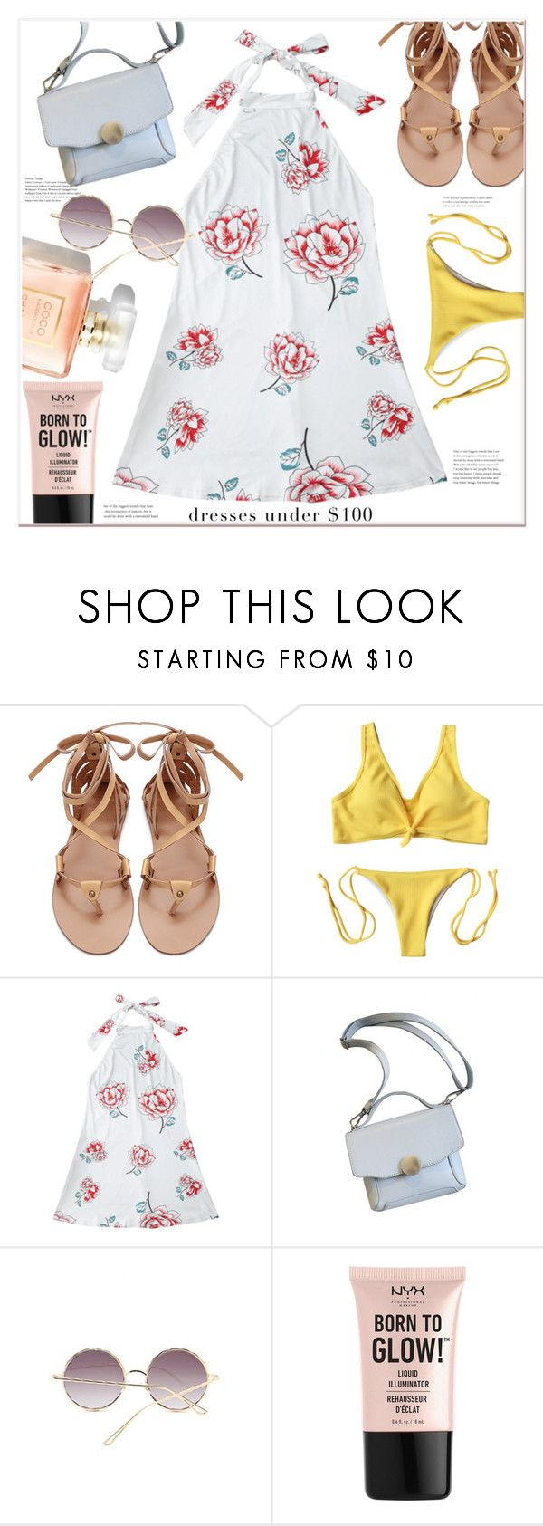 """summer style"" by mycherryblossom ❤ liked on Polyvore featuring NYX"