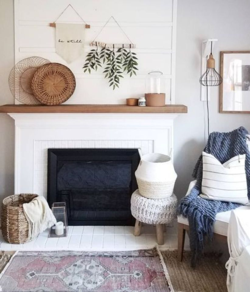 34 Casual Modern Farmhouse Living Room   Living room with ... on Fireplace Casual Living id=34382