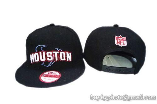 e4a2b7a5c0e Houston Texans Snapback Hat Old Style NFL Adjustable Cap Black ...