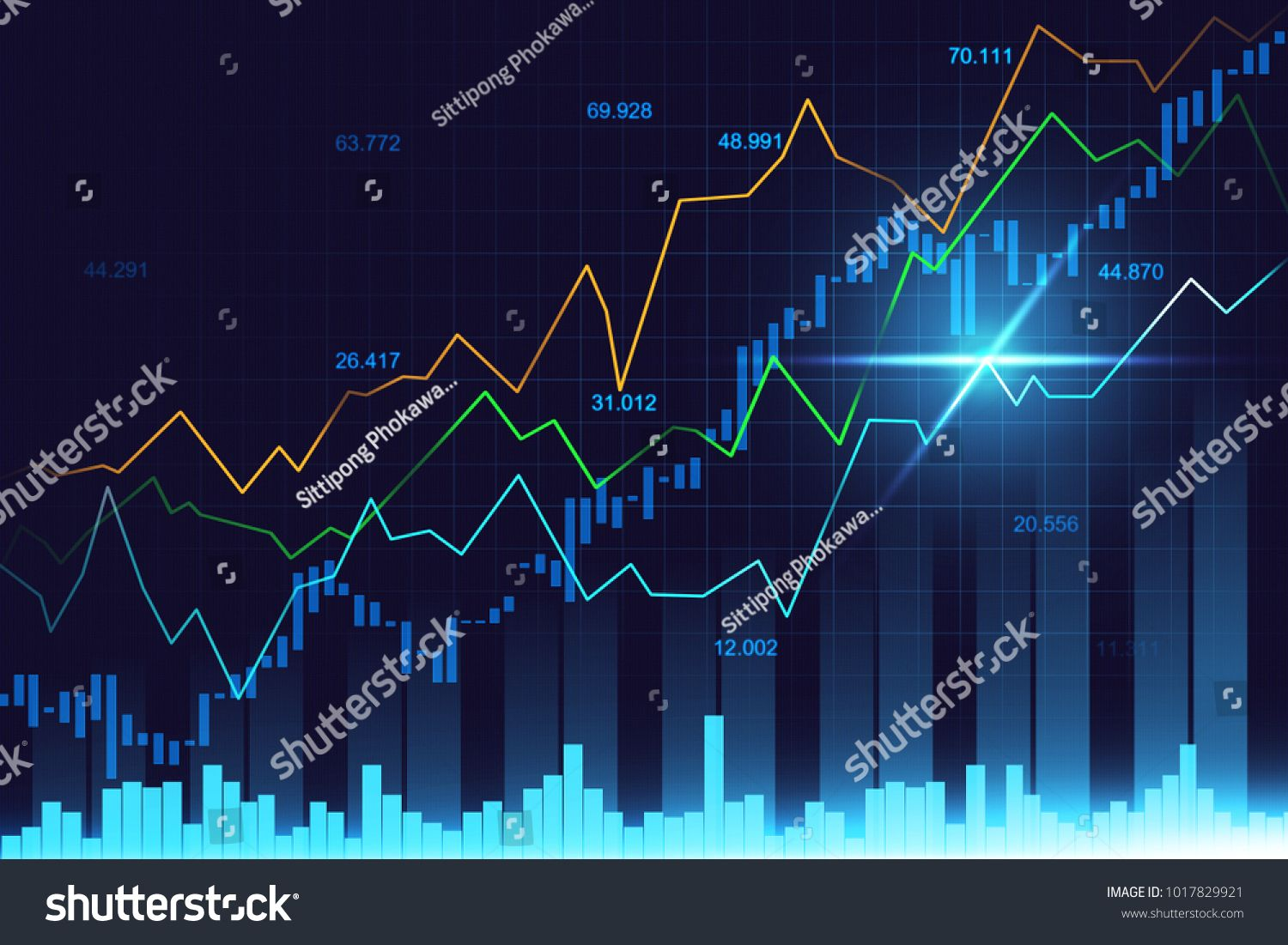 Stock Market Or Forex Trading Graph In Graphic Concept Suitable For Financial Investment Or Economic Trends Bu Economic Trends Finance Infographic Stock Market